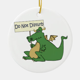 De Funny Do Not Disturb Hanger van de Deur Rond Keramisch Ornament