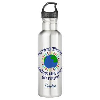 De fysieke Therapie maakt de Wereld rond gaan Waterfles