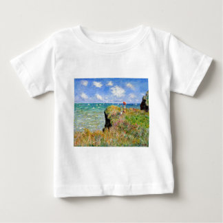De Gang van Clifftop in Pourville - Claude Monet Baby T Shirts