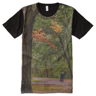 De gang van de herfst All-Over-Print t-shirt