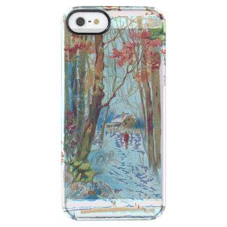 De Gang van de Sneeuw van Winterberry van de Hulst Doorzichtig iPhone SE/5/5s Hoesje