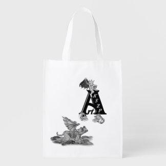 De Gargouille van Golem en Logo ArtKSZP Boodschappentas