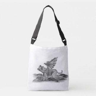 De Gargouille van Golem, Zwart-wit ontwerp Crossbody Tas