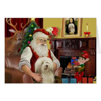 De Gebaarde Collie van de kerstman (#16) Briefkaarten 0