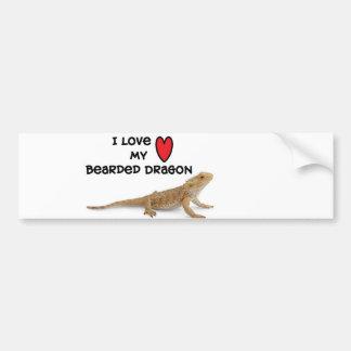 De gebaarde Sticker van de Bumper van de draak