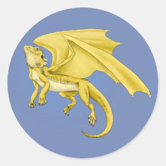 De gebaarde Sticker van de Draak van de Draak