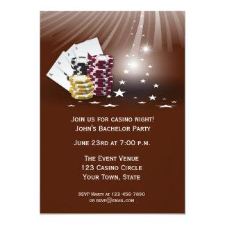De Gebeurtenis van het casino 12,7x17,8 Uitnodiging Kaart