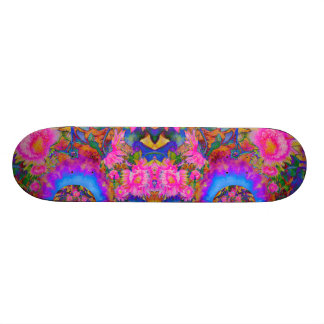 De gebieden van de zonnebloem voor altijd - roze 21,6 cm skateboard deck