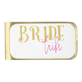 De gebogen Gouden Roze Stam van de Bruid Vergulde Geldclip