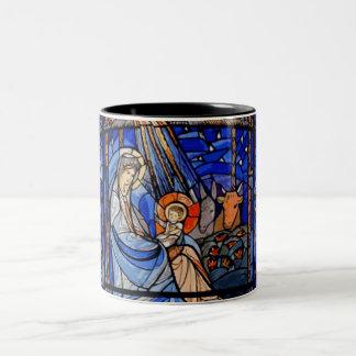 De Geboorte van Christus van de Stijl van het Tweekleurige Koffiemok