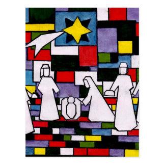 De Geboorte van Christus van Mondrian - DE Stijl - Briefkaart