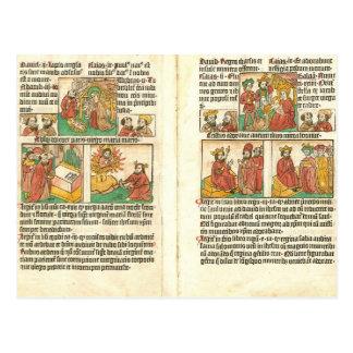 De Geboorte van Christus van Paupernum van Biblia Briefkaart