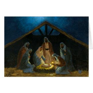 De geboorte van Christus Wenskaart