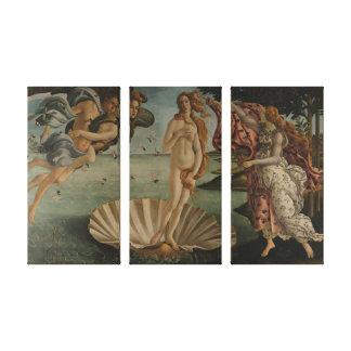 De geboorte van Venus Canvas Afdruk