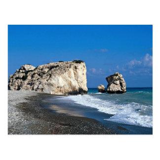 De geboorteplaats van Aphrodite, Pissouri, Cyprus Briefkaart