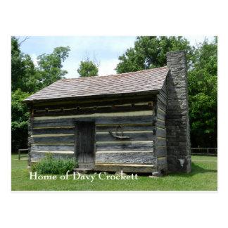 De Geboorteplaats van Crockett van Davy Briefkaart