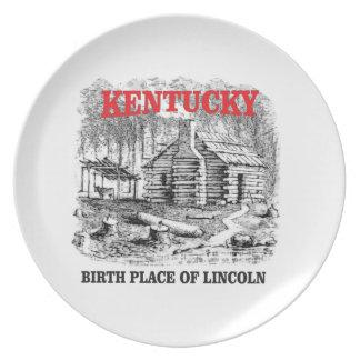 De geboorteplaats van Kentucky Lincolns Bord