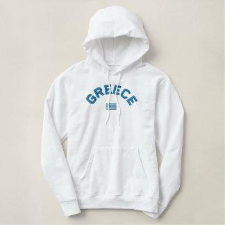 De geborduurde trui van Griekenland hoodie -