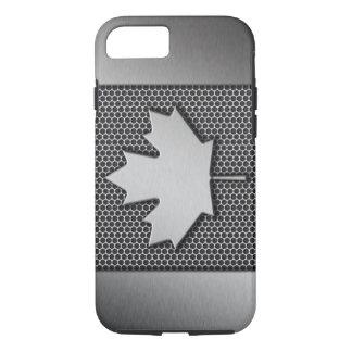 De geborstelde Canadese Vlag van het Metaal iPhone 7 Hoesje