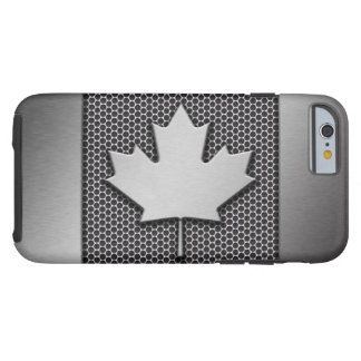De geborstelde Canadese Vlag van het Metaal Tough iPhone 6 Hoesje