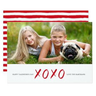 De geborstelde Kaart van de Valentijnsdag van de 12,7x17,8 Uitnodiging Kaart