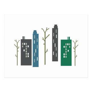 De Gebouwen van de stad Briefkaart