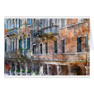 De Gebouwen van Venetië Italië Wenskaart