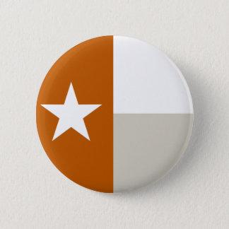 De gebrande Oranje Knoop van de Vlag van Texas Ronde Button 5,7 Cm