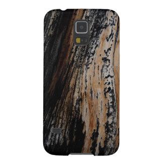 De gebrande Textuur van de Schors van de Boom Galaxy S5 Hoesje