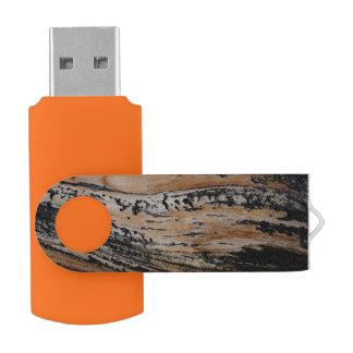 De gebrande Textuur van de Schors van de Boom USB Stick