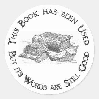 De gebruikte Gift Bookplate van het Boek Ronde Sticker
