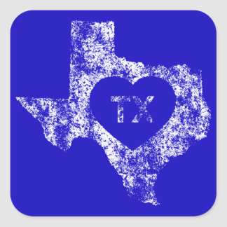 De gebruikte Stickers van de Staat van Texas van