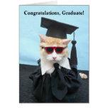 De Gediplomeerde van gelukwensen! Wenskaart