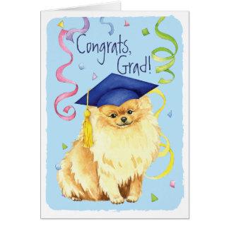 De Gediplomeerde van Pomeranian Briefkaarten 0