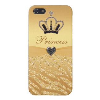 De gedrukte Kroon & het Zebra van de Prinses iPhone 5 Covers
