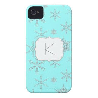 De gedrukte Winter Bling van de Juwelen van de Sne iPhone 4 Hoesje