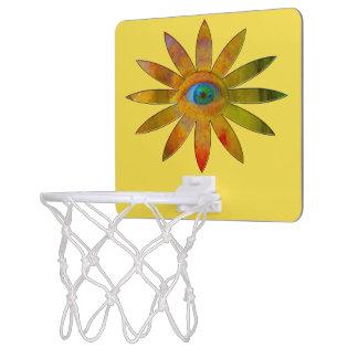 De geelachtige Bloem van het Oog Mini Basketbalbord