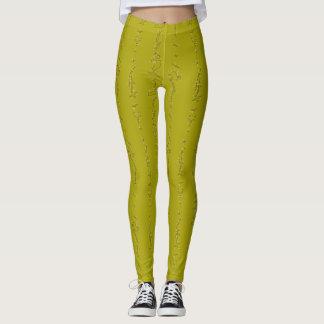 De geelgroene Beenkappen van de Zigzag Leggings