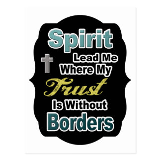De geest leidt me waar Mijn Vertrouwen zonder Briefkaart