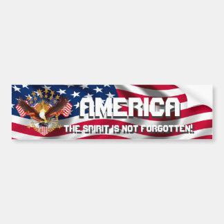 De Geest van Amerika is niet gelieve Te vergeten Bumpersticker