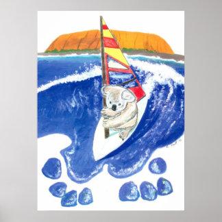 De geest van Australië - het Surfen van de Wind va Poster