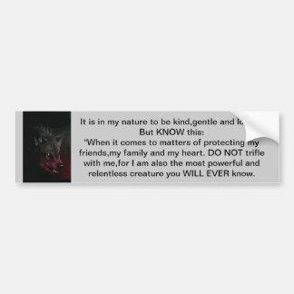 De geest van een Sticker van de Auto van de Wolf Bumpersticker