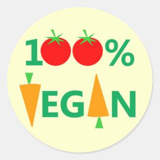 De Geestige Stickers van de Veganist van 100% voor