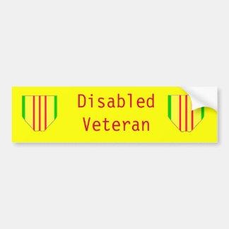 De gehandicapte Sticker van de Bumper van de Veter