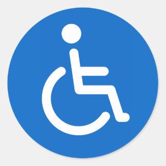 De gehandicapten ondertekenen of gehandicapt ronde sticker
