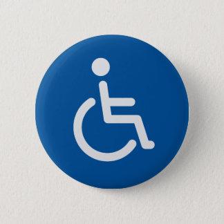 De gehandicapten ondertekenen of symbool met man ronde button 5,7 cm