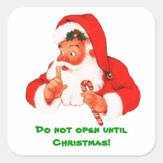De geheime Sticker van Kerstmis van de Kerstman