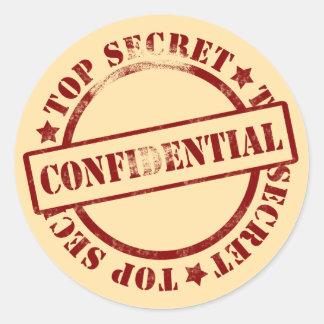 De geheime Vertrouwelijke Stickers van Dossiers