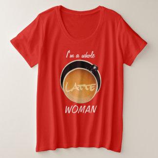 De gehele Grappige Humoristische Koffie van de Grote Maat T-shirt