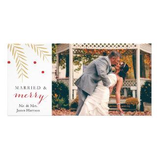 De gehuwde en Vrolijke Kaart van de Foto van Fotokaart